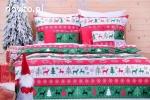 Pościel świąteczna, dekoracje stołu na Boże Narodzenie